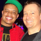 Steve G. Jones with Curtis 'Hood Surgeon' Young, son of Dr. Dre