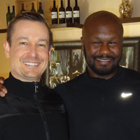 Hypnotherapist Dr. Steve G. Jones with former two-time WBC Continental America's light heavyweight boxing champion and two-time world title boxing challenger, Derrick 'Royalty' Harmon