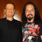 Steve G. Jones with Bjorn Englen, former Quiet Riot bassist