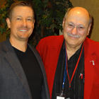 Steve G. Jones with Larry Elman, son of hypnotist Dave Elman