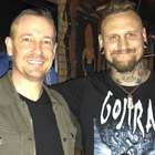 Steve G. Jones with Jeremy Colson, drummer for Steve Vai