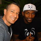 Steve G. Jones with Metta World Peace (born Ronald William Artest, Jr.) of the Los Angeles Lakers