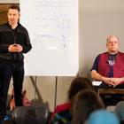 Steve G. Jones presenting with Joe Vitale of The Secret