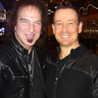 Steve G. Jones with Dave Amato, lead guitarist for REO Speedwagon